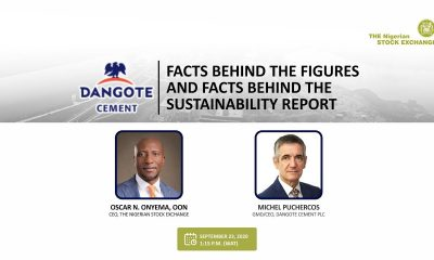 NSE Hosts Dangote Cement to Joint Virtual Facts Behind the Figures and Sustainability Report