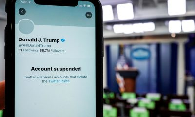 Twitter Shares Slump 8% After Trump's Account Suspension
