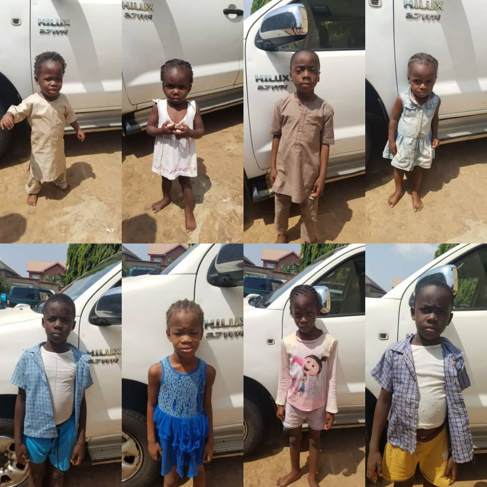 Police Say Rescued Trafficked Children Are Yet To Be Claimed