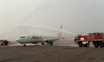 Minister Receives Allied Air New Aircraft For Vaccines Distribution