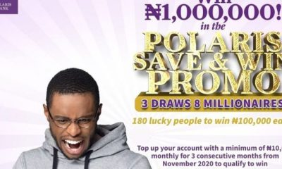 """Polaris Bank Rewards First Millionaire, Others In """"Save & Win"""" Promo"""