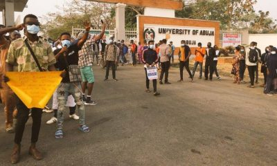 University of Abuja (UniAbuja) Students Protest Hike In Tuition Fee, Others