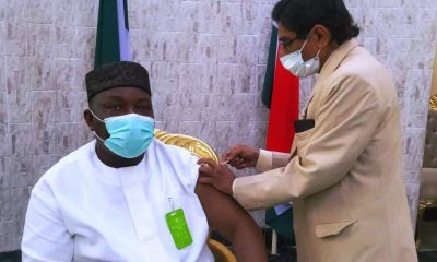 Gov. Ugwuanyi, Others Receive COVID-19 Vaccine Jabs In Enugu