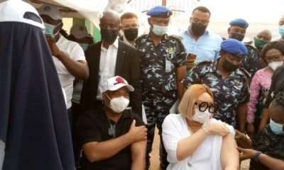 Gov. Uzodimma, Deputy, Wife, Others Receive COVID-19 Vaccination