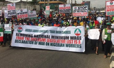 Lagos Workers Comply With Labour Unions' Directive To Protest