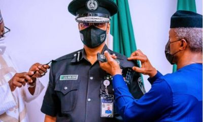 Osinbajo Decorates Baba As Acting Inspector-General of Police