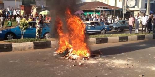 Man Set Ablaze For Stealing Handkerchief