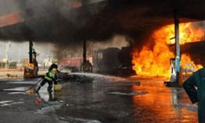Panic As Petrol Station In Enugu State Engulfed In Flames