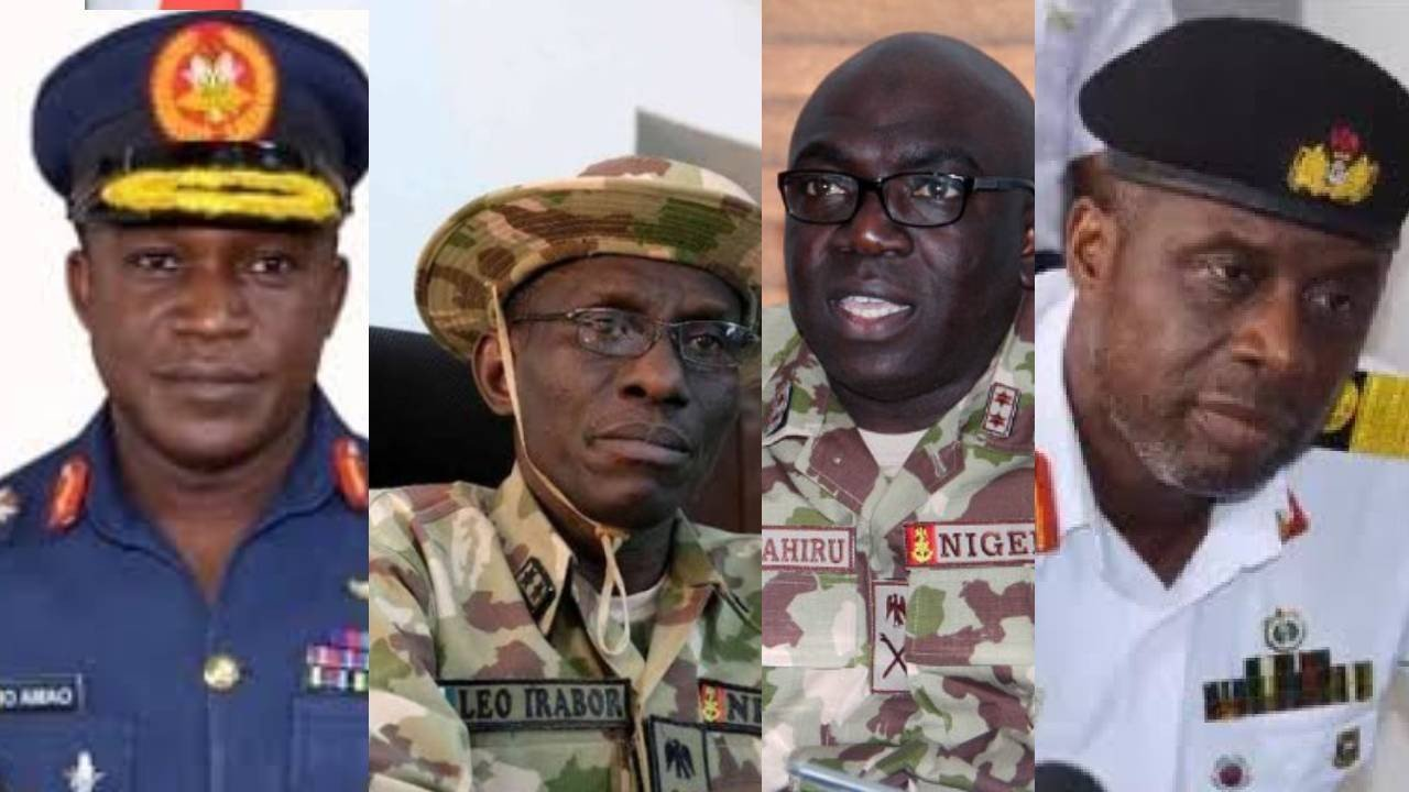 Insecurity: Service Chiefs Will Brief Senate on Thursday