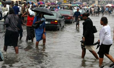 Lagos Residents Battle Flood After Heavy Downpour