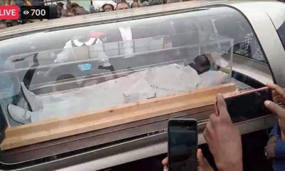 Tears Flow As T.B Joshua's Remains Arrive For Burial