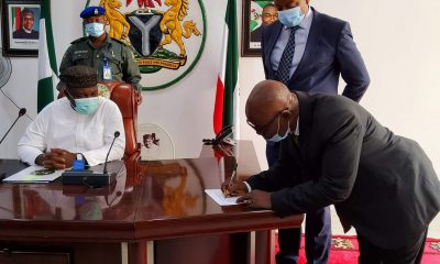 Gov. Ugwuanyi Swears-In New Acting Chief Judge Of Enugu State